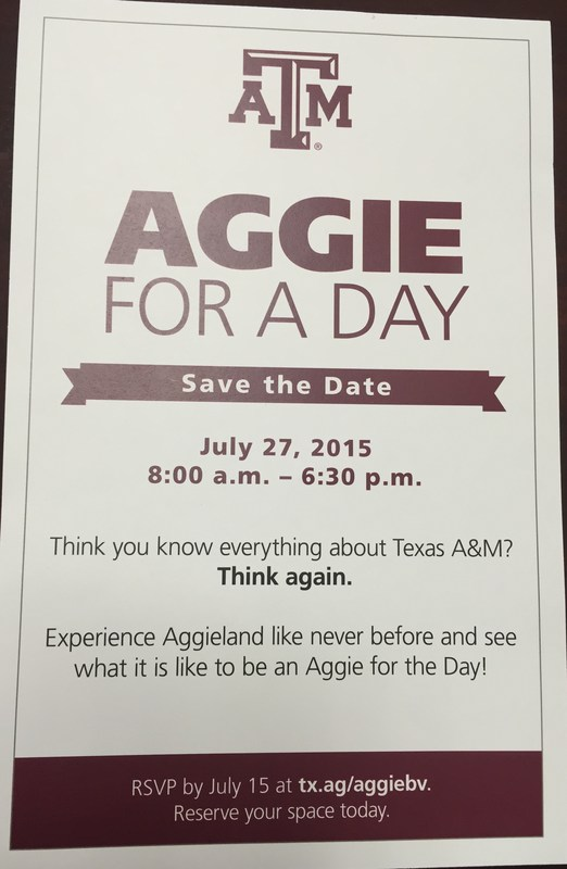 Aggie for a day!