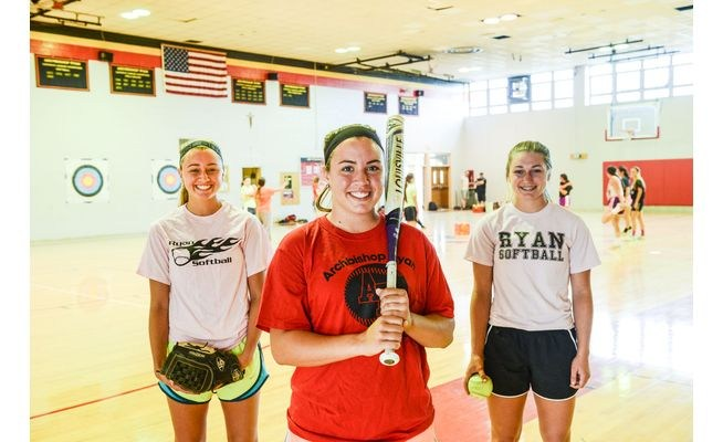 Softball Sisters Sarah, Emily and Kate Ostaszewski were highlighted in a recent article by Ed Morrone of the Northeast Times