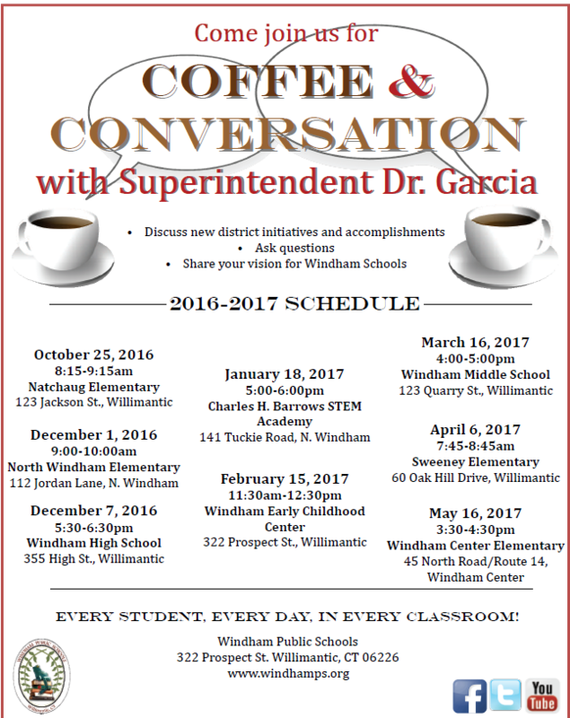 Coffee and Conversation with the Superintendent Dr. Garcia Thumbnail Image