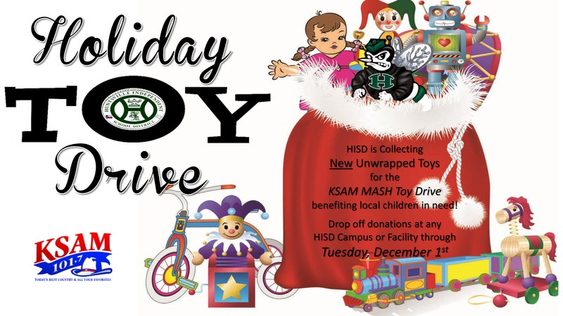 HISD Holiday Toy Drive 11/9-12/1