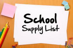 2015-2016 Student Classroom Supply List