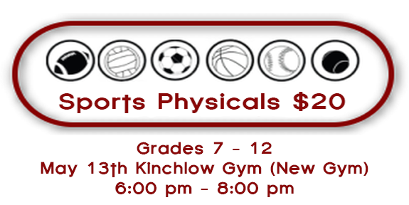 Sports Physicals for the 2015 - 2016 School Year