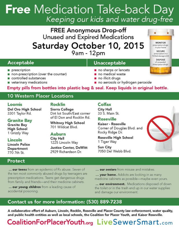 Free Medication Take-back Day