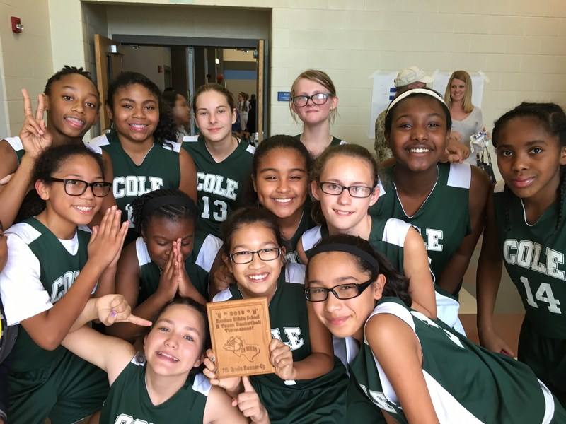 7th Grade Basketball Team earns 2nd place at Bandera Tournament.