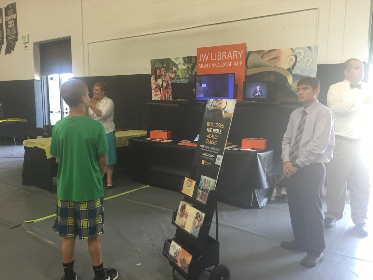 Company Booth in Gym