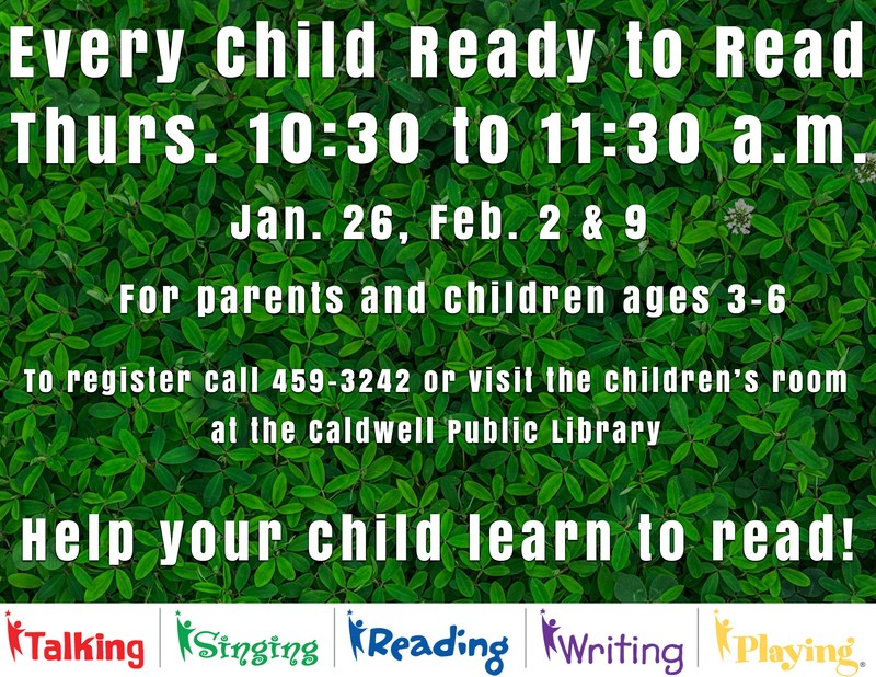 Upcoming events at the Caldwell Public Library Thumbnail Image