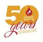 Community Blood Center 50 Year Logo
