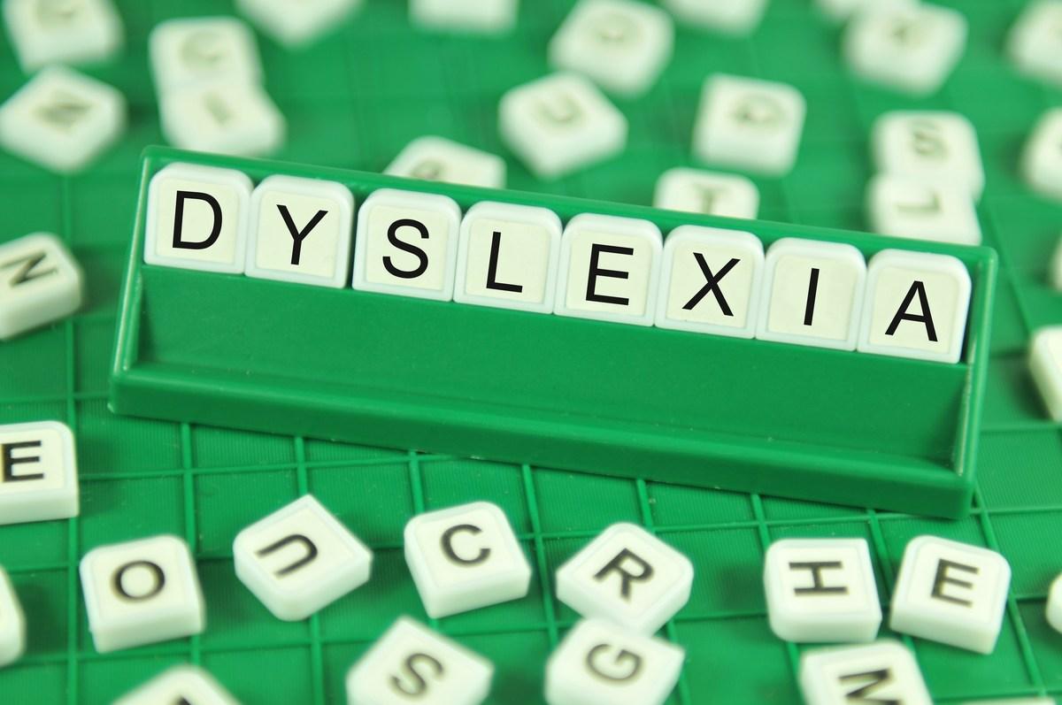 Dyslexia written in tiles
