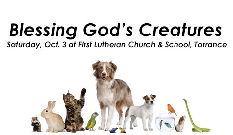 """Blessing God's Creatures"" Celebration Coming Saturday, Oct. 3!"