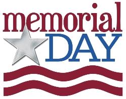 May 25th: Memorial Day Holiday