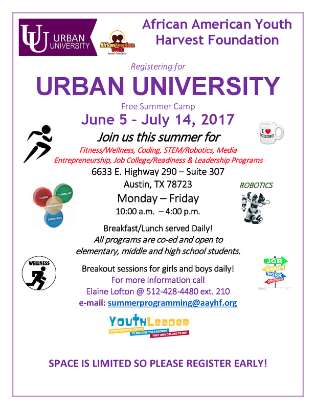 Urban University Summer Camp registration now open to Manor ISD students Thumbnail Image