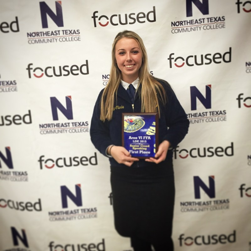 Two Whitehouse FFA Members Earn Top Awards at Area Speaking Contest