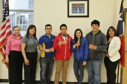 Students receive Cine-mark movie tickets for earning a high score on their essays in preparation for the  STAAR exam.