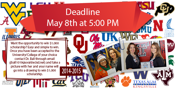 Seniors Don't Miss Out on this Unique a Scholarship Opportunity! DEADLINE May 8th at 5PM