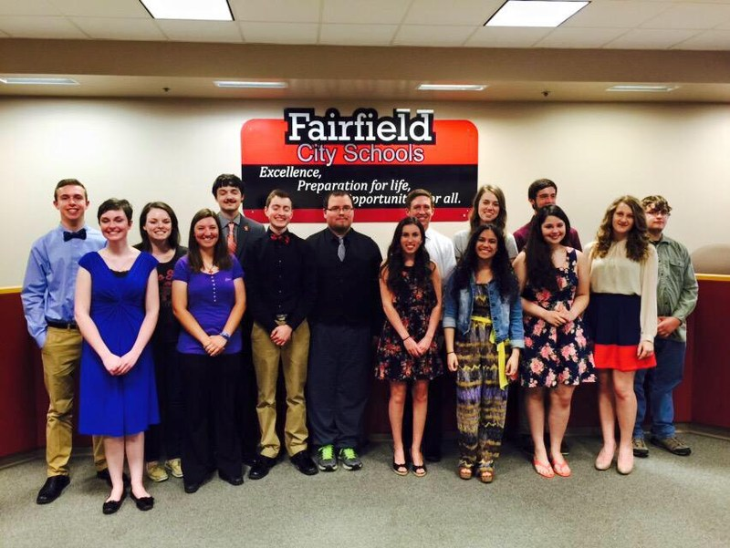 Top 15 Seniors Honored at Fairfield High School