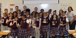 NBA Referees read with Sixth Grade