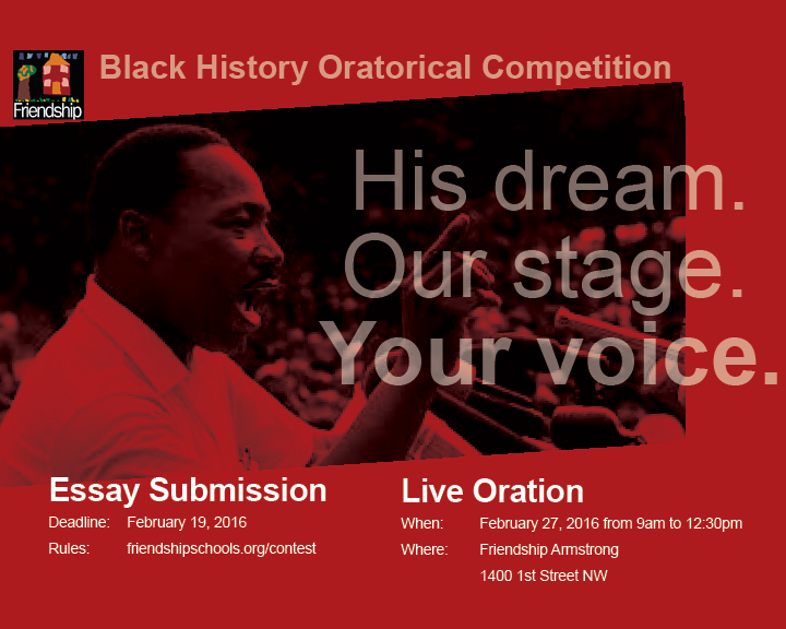 """The Washington, D.C. Black History  """"Continuing the Legacy"""" Oratorical Competition"""