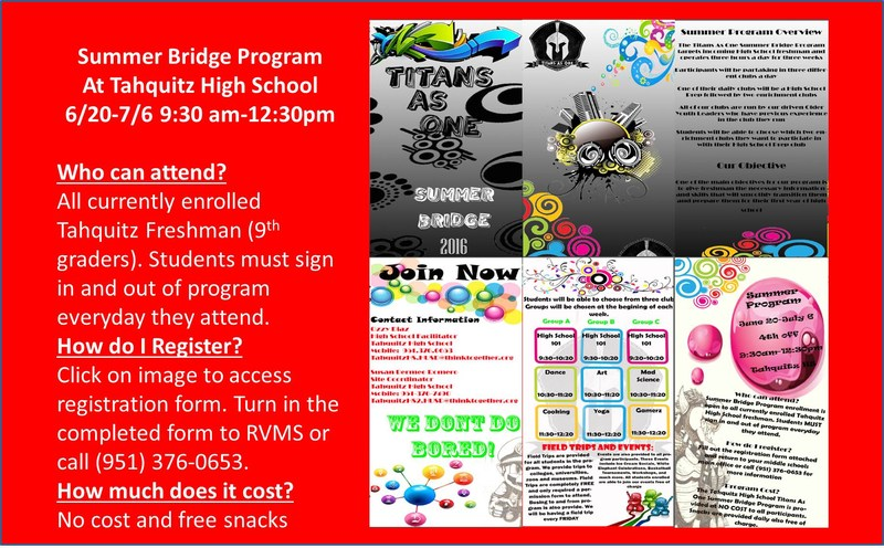 Summer Bridge flyer