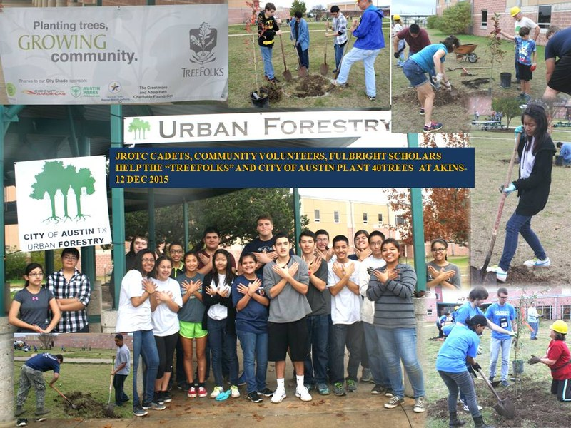 40 Trees planted on the Akins grounds