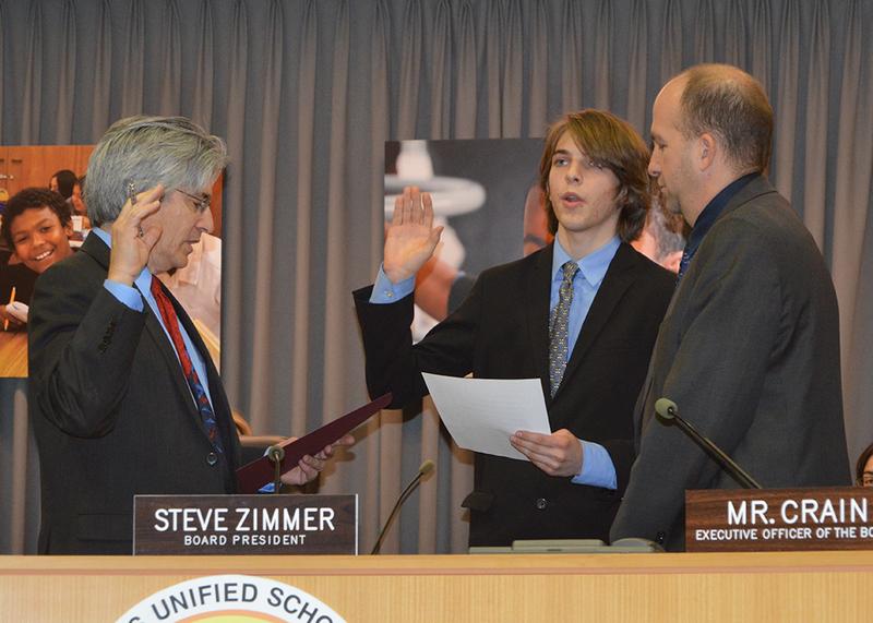L.A. Unified board swears in student member
