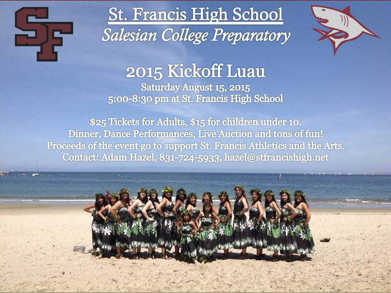 Save the Date: St. Francis Kickoff Luau!
