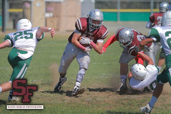 St. Francis football vs Harbor today at 2 pm on the Cube