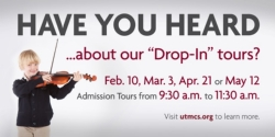 """Our next """"Drop-In"""" Tour is scheduled on Tuesday, April 21"""
