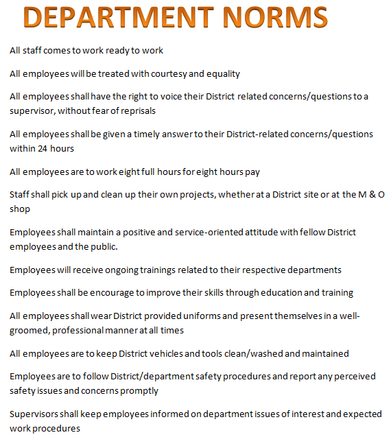 Departmental Norms