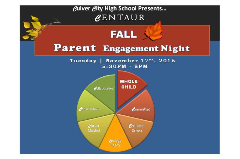 Fall Parent Engagement Night