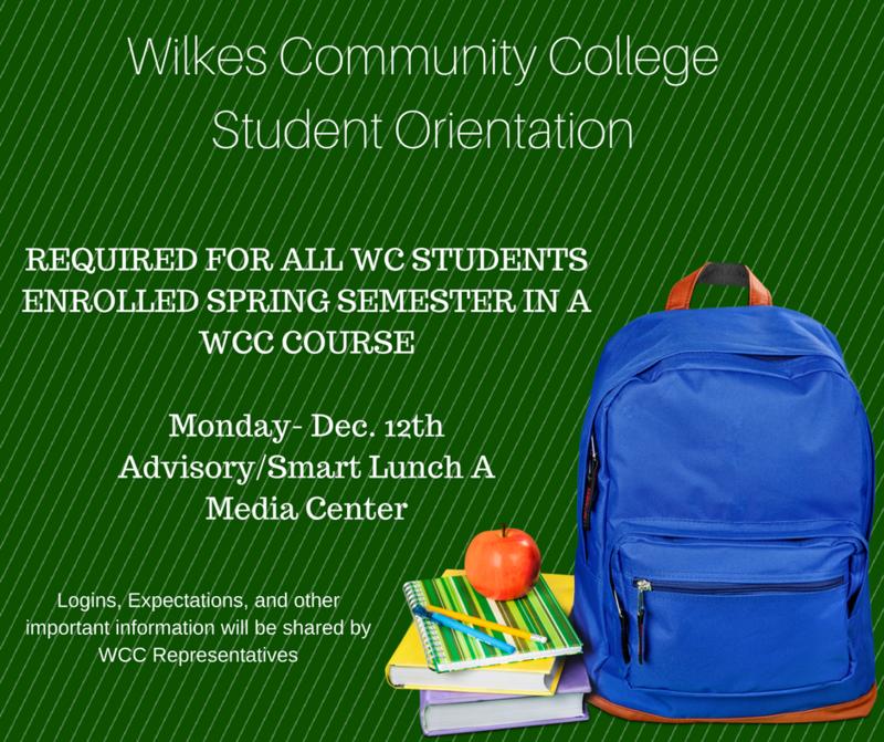 WCC Orientation-Monday, Dec12th Thumbnail Image