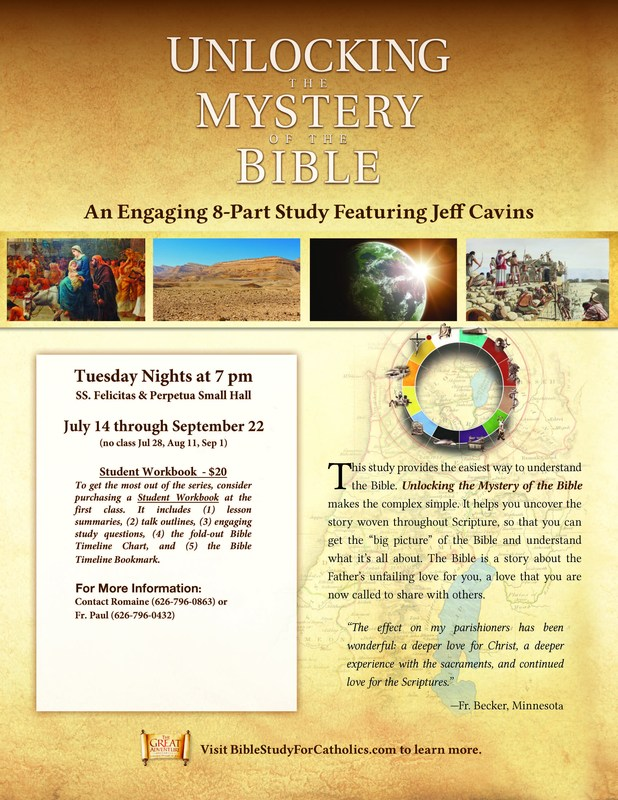 New Adult Faith Formation Series: Unlocking the Mystery of the Bible