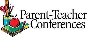 Parent Teacher Conference Image (book, apple, pencils)