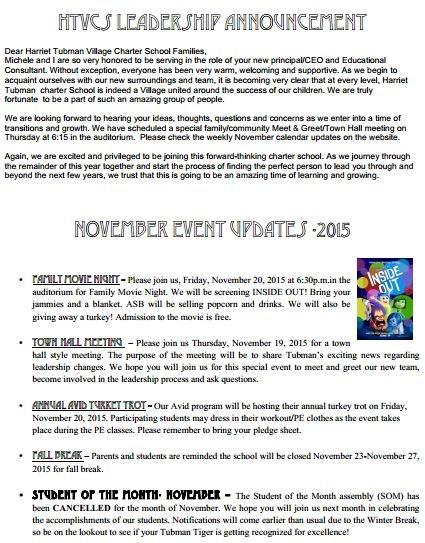 NOVEMBER EVENT UPDATE 2015 !