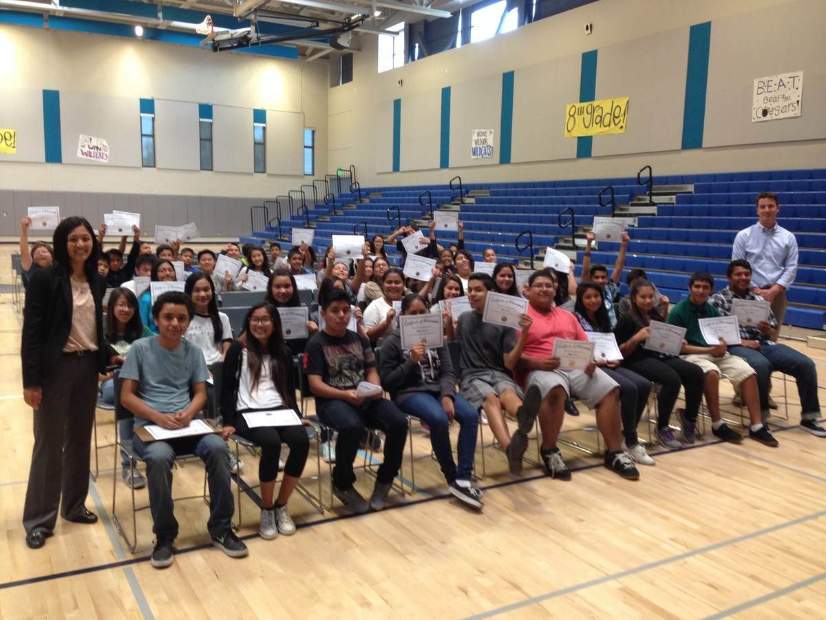 Warner Middle School Reclassification Celebration