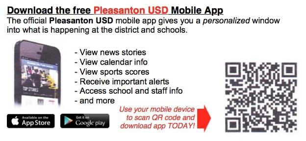 Download the Pleasanton USD App!