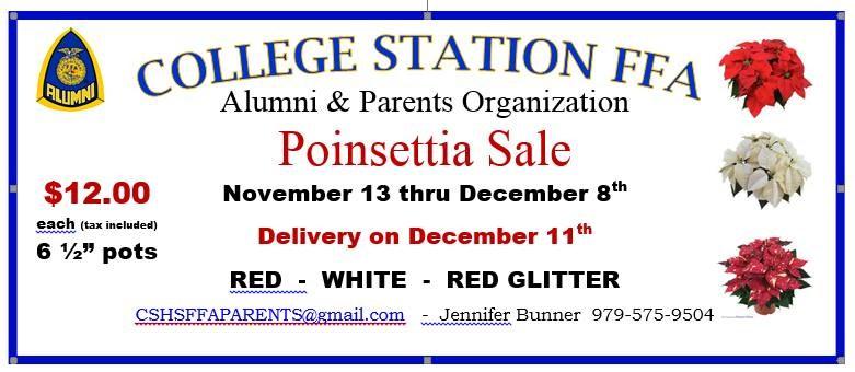 CSHS FFA Poinsettia Sale