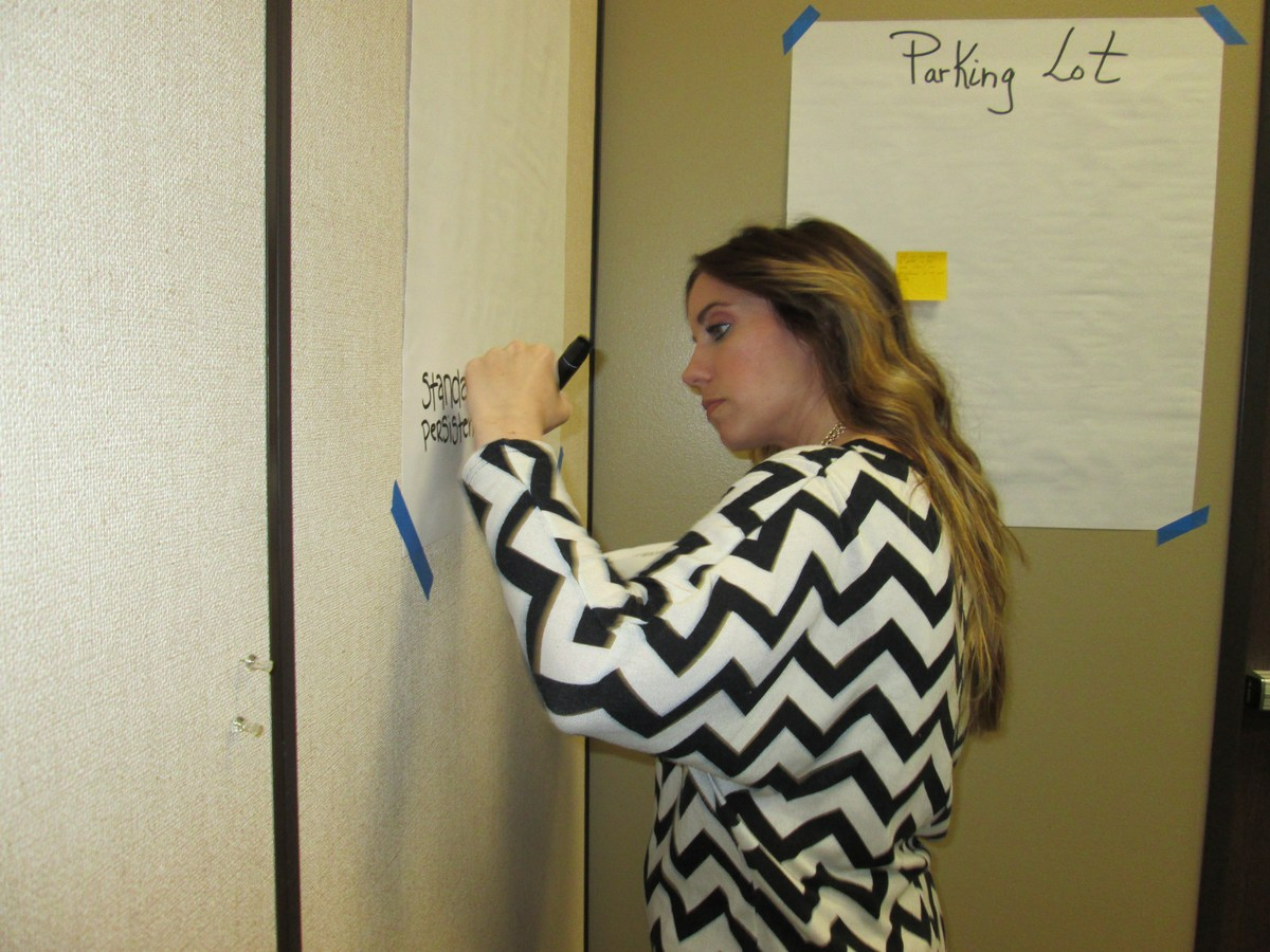 Mrs. Null Brown works hard to create just the perfect addition to History Social Science Training.