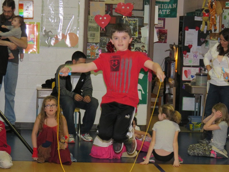 Lee students jumped rope all day Tuesday raising money for the American Heart Association in the annual Jump Rope for Heart event.