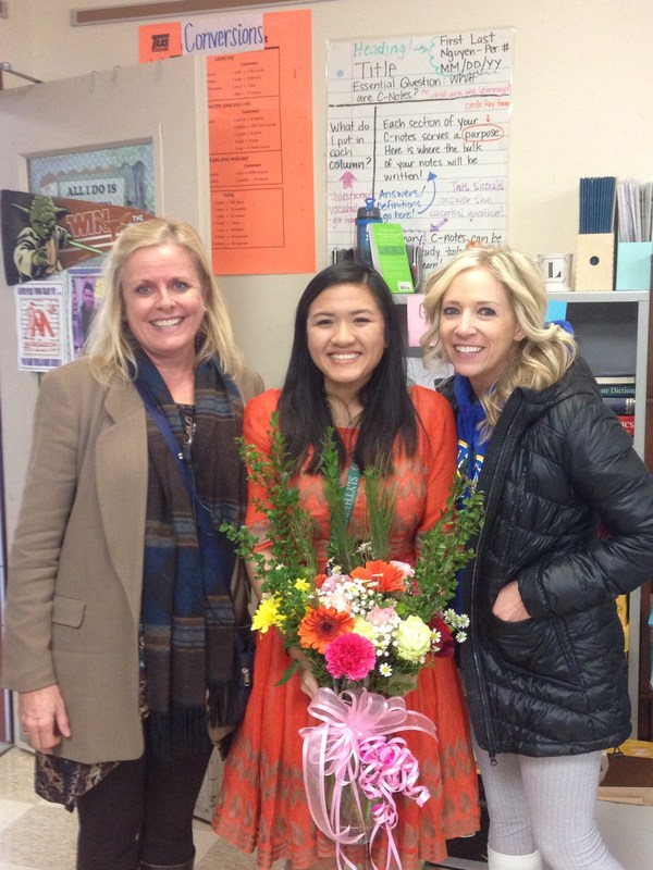 Congrats to our Murchison Teacher of the Year - Ms. Nguyen!