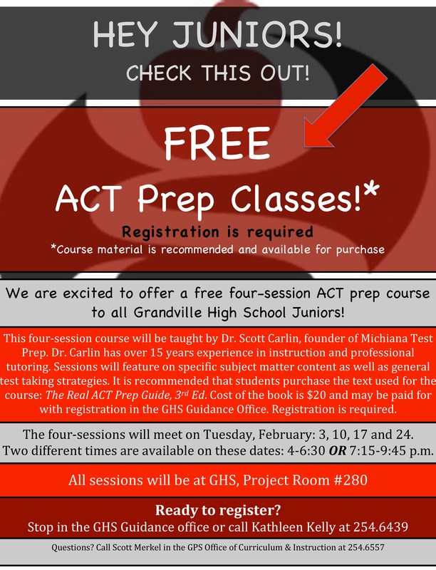 Free ACT Prep Class for Juniors!