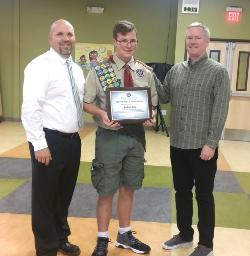 Joshua Long recognized for Eagle Scout Award