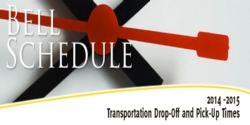 2014-2015 UCISD Bell Schedules - Transportation Drop-Off and Pick-Up Times