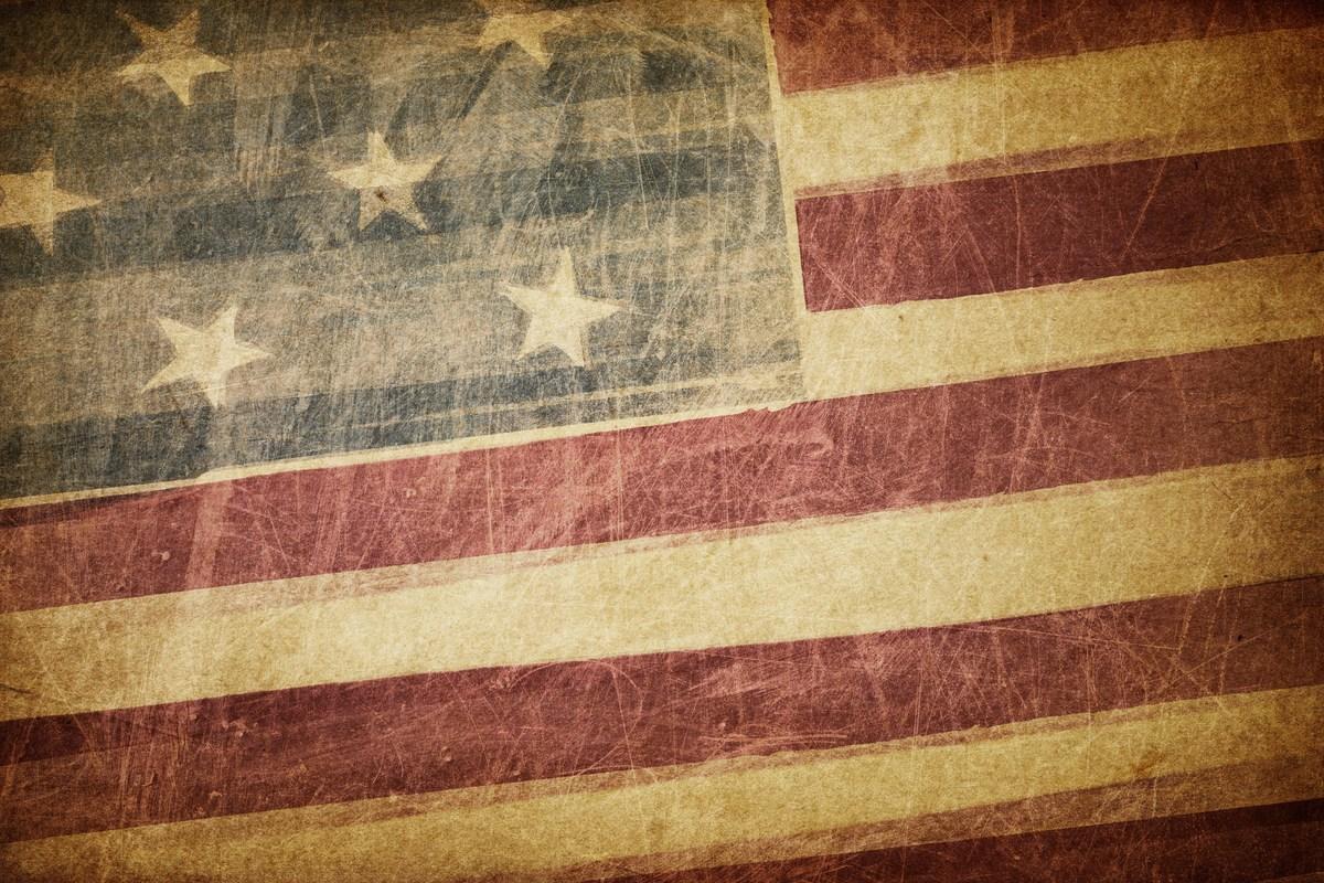 Old U.S. flag