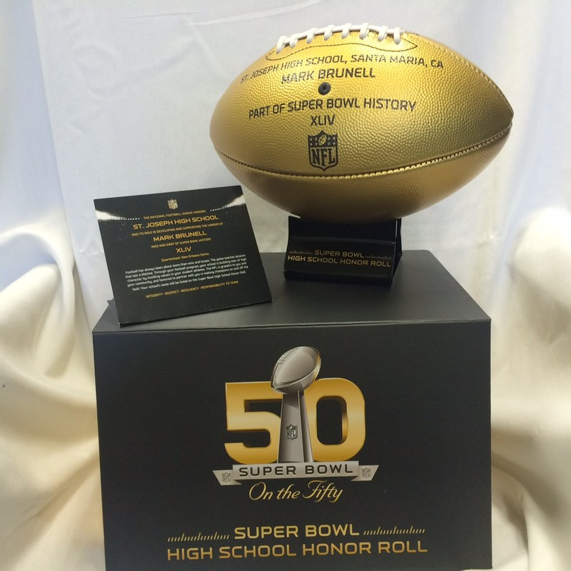 NFL 50TH ANNIVERSARY SUPER BOWL GOLDEN FOOTBALL!