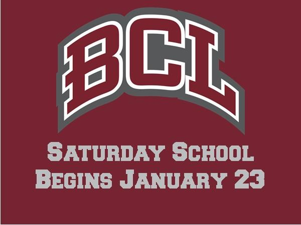 Saturday School Registration is Due January 15