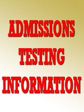 Admissions testing information Thumbnail Image