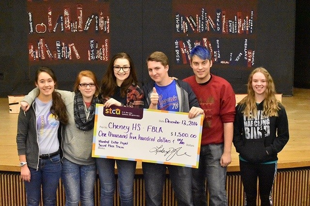 CHENEY FBLA CLUB FINISHES 2ND IN MAKE A DIFFERENCE CONTEST Thumbnail Image