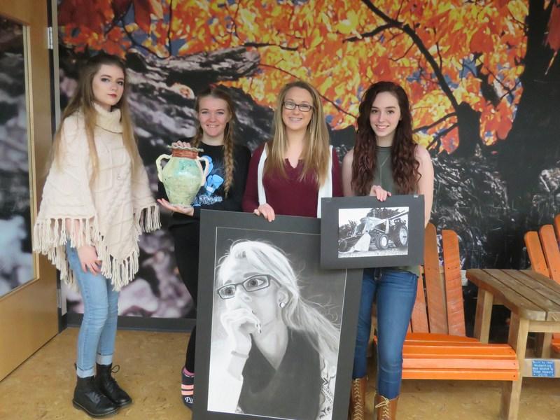 TKHS art students display their award-winning works.