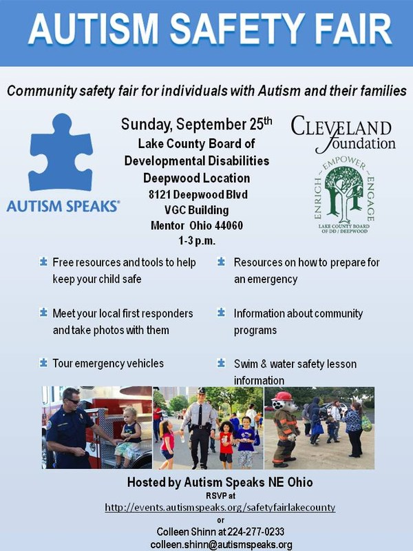 Cleveland Foundation, DD/Deepwood And Autism Speaks Present: Autism Safety Fair Thumbnail Image