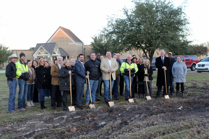 Crandall ISD Education Foundation Breaks Ground on Donor Monument